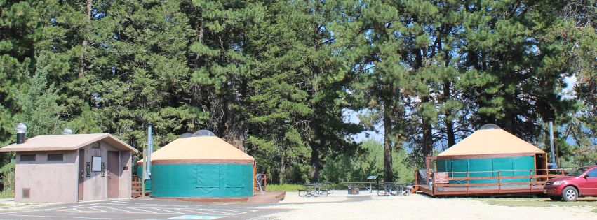 Yurts at Cascade Lake State Park